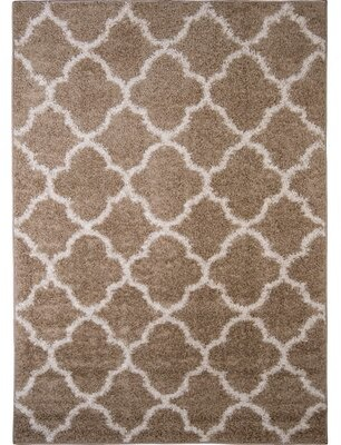 """Nicole Miller Synergy Beige/White Area Rug Rug Size: Rectangle 79"""" x 102"""""""