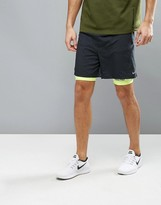 Nike Running 7 Pursuit 2-In-1 Shorts In Black 683288-010