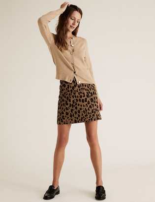 Marks and Spencer Jersey Animal Print Mini A-Line Skirt