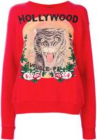 Gucci Hollywood feline print sweatshirt