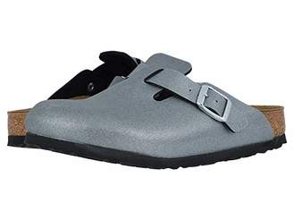 Birkenstock Boston Icy Metallic Birko-Flortm (Anthracite Birko-Flortm) Women's Clog Shoes