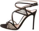 Gianvito Rossi Lace & Suede Strappy Sandals