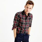 J.Crew Slim midweight flannel shirt in black-and-red tartan