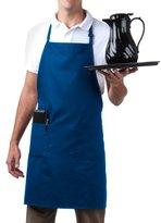 Bib Aprons-MHF Brand-1 Piece-new Spun Poly-Commercial Restaurant Kitchen- Adjustable-Full length-3 Pockets (Royal Blue)