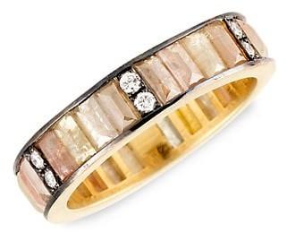 Sylva & Cie 18K Yellow Gold & Rough-Cut Baguette Diamond Ring