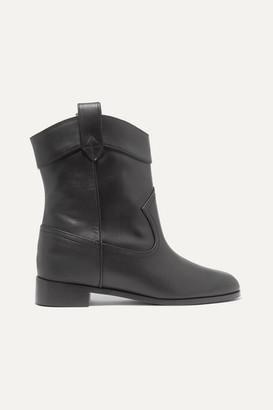Aquazzura Jordan Leather Ankle Boots - Black