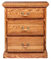 Forest Designs FD-3035- TC- WO Traditional Three Drawer Nightstand