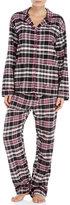 PJ Salvage Two-Piece Plaid Print Flannel Pajama Set