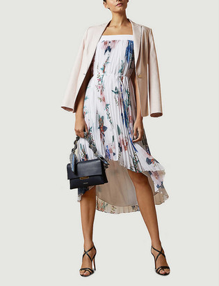 Ted Baker Jamboree Luner pleated crepe midi dress