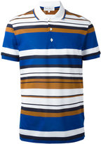 Salvatore Ferragamo striped polo shirt - men - Cotton - S