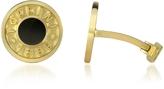 Torrini Coin 1369 - Onyx and 18K Yellow Gold Round Cufflinks