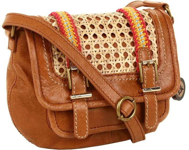 The Sak Laguna Small Crossbody (Woven Latice) - Bags and Luggage