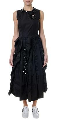 MONCLER GENIUS Black Technical Fabric Droped Dress