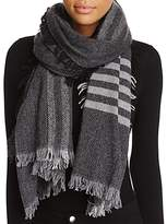 Eileen Fisher Plaid Stripe Scarf