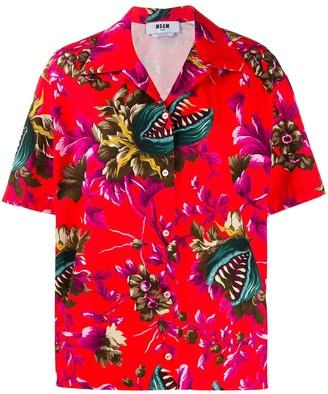 MSGM Venus Fly Trap print shirt