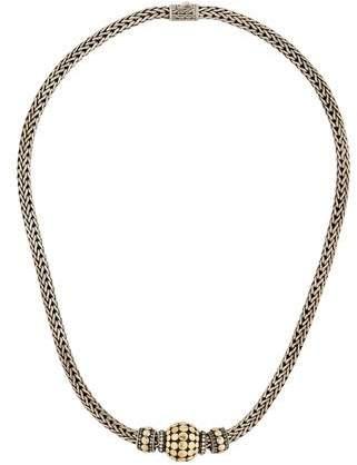 John Hardy Two Tone Slide Pendant Necklace