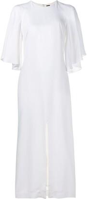 ADAM by Adam Lippes flounce sleeve midi dress