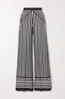 Mary Katrantzou MARY-MARE Venice Printed Silk Wide-leg Pants - Black