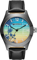 Arizona Mens Los Angeles Black Strap Watch