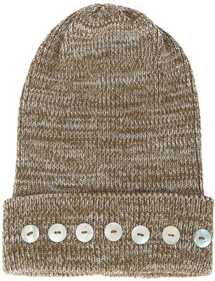0711 Isola button-embellished beanie