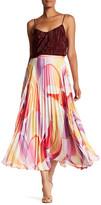 Robert Graham Aria Pleated Print Maxi Skirt