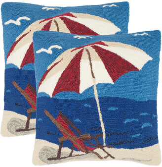 Safavieh Set Of 2 Beach Lounge Indoor/Outdoor Pillows