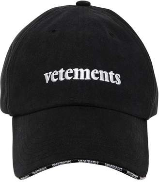 Vetements LOGO EMBROIDERY COTTON BASEBALL HAT
