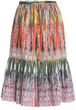 Saloni Broderie Anglaise Printed Cotton Skirt