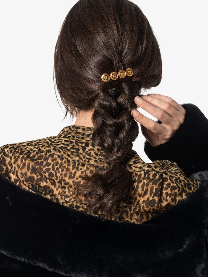 Thumbnail for your product : Versace Medusa motif hair pin