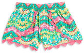 Planet Gold Girls 7-16 Lace Trim Patterned Shorts