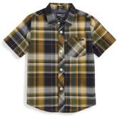 O'Neill Boy's Short Sleeve Plaid Shirt