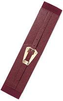 New York & Co. Goldtone Plaque-Accent Stretch Belt