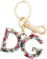 Dolce & Gabbana Embellished Logo Keyring