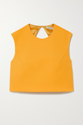 Nina Ricci Cropped Open-back Wool-blend Top - Yellow