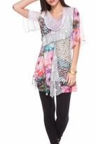 Adore Patchwork Floral Tunic
