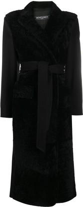 Simonetta Ravizza Belted Shearling Coat