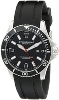 Stuhrling Original Men's 706.01 Aquadiver Regatta Diver Sport II Swiss Quartz Date Rubber Strap Watch