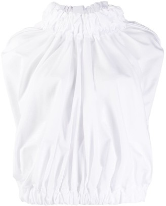 Comme des Garcons Puffball Mock Neck Blouse