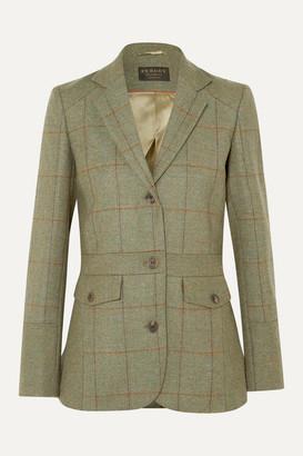Purdey - Checked Wool-tweed Blazer - Green