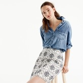 J.Crew Embroidered floral mini skirt