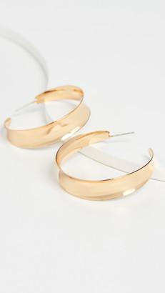 Madewell Sculptural Statement Hoop Earrings