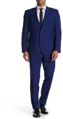 Nick Graham Denim Blue Slim Fit Suit