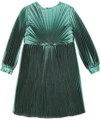 Gucci Kids Silk-blend lamA voile dress