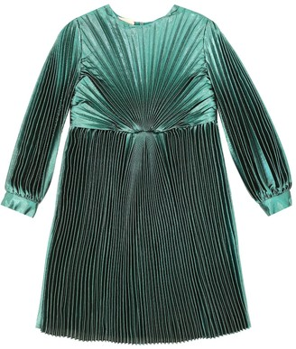 Gucci Kids Silk-blend lame voile dress