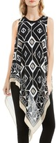 Vince Camuto Graphic Chiffon Handkerchief Blouse (Regular & Petite)