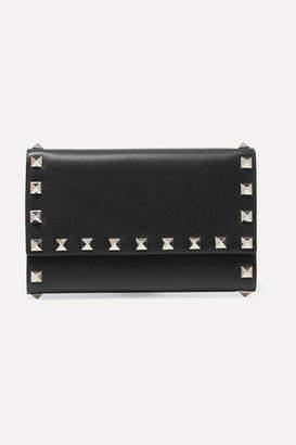Valentino Garavani The Rockstud Medium Leather Wallet - Black