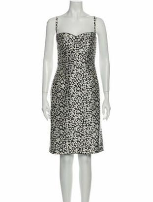 Dolce & Gabbana Floral Print Knee-Length Dress Black