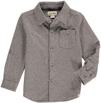 Me & Henry Boy's Heathered Jersey Long-Sleeve Shirt w/ Children's Book, Size 2T-10