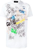 DSQUARED2 handwriting print T-shirt