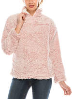 Urban Diction Women's Sweatshirts and Hoodies Pink - Pink Sherpa Quarter-Zip Pullover - Women